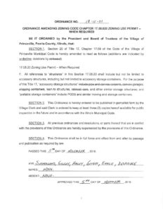 Ordinance Amending Zoning Code Chapter 17 08 020 Zoning Use Permit